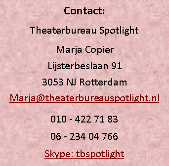 Tekstvak: Contact: